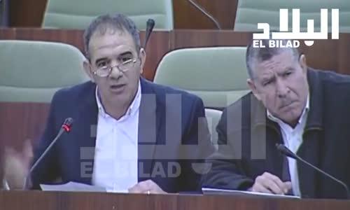 """مداخلة النائب البرلماني """" إلياس سعدي """"   يقصف وزير المالية انت مثل جحا"""
