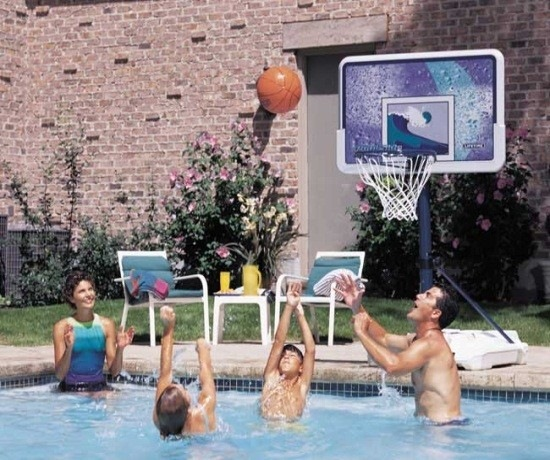 Epic Poolside Basketball Trick Shot