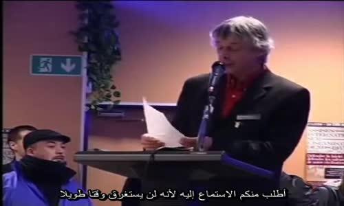 شاهد ماذا  يقول  ابن الحركي هذا في فرنسا كيف يتملق للفرنسيين وكيف يبرز عداوته الخبيثة للاسلام