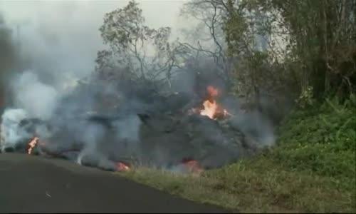 Raw Lava Burns on Local Hawaii Road
