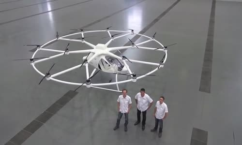 Volocopter VC200 First Flight  Electric helicopter of the future.