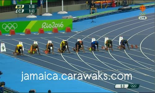 Usain Bolt wins Gold at the Olympics for the 3rd time consecutively in the Men's 100m video