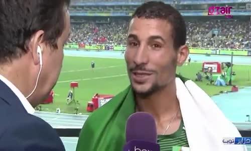 توفيق مخلوفي تصريحات  نارية في المسؤولين الجزائريين بالثقيل بعد فوزه بالميدالية الفضية