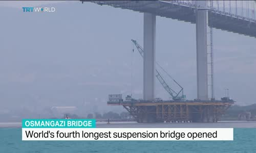 Worlds fourth longest suspension bridge opened in Turkey,