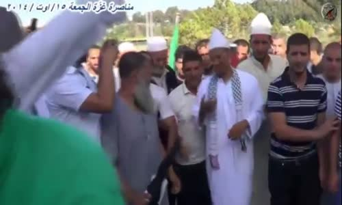 الشيخ علي بن حاج تجمع البيضاوية نصرة لغزة