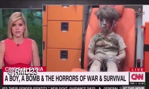مذيعة cnn تبكي على الهواء مباسرة بسبب الطفل عمران