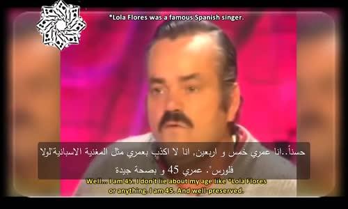 اخيراً الترجمة الصحيحة لما قاله الرجل الاسباني (Risitas) خلال مقابلته الشهيرة._HD