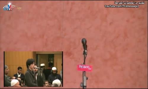 ياباني يسأل الدكتور ذاكر عن داعش - ذاكر نايك Zakir naik Talk about ISIS