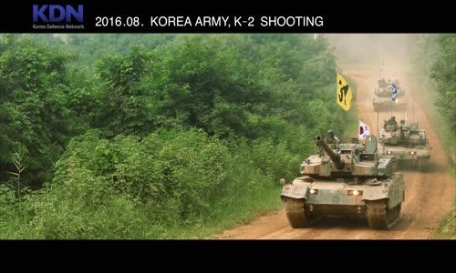 South Korean K-2 Black Panther MBT Live Firing