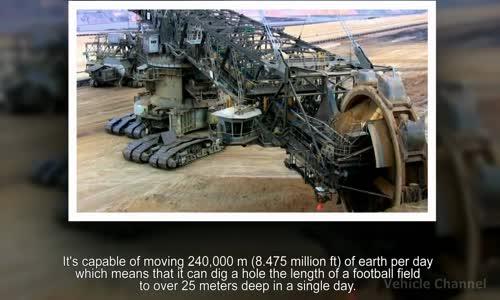 The Largest Land Vehicle Ever - Bagger 293 Bucket Wheel Excavator