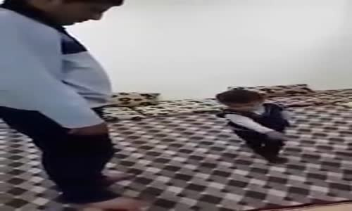 watch as Child Forces Dad to Pray