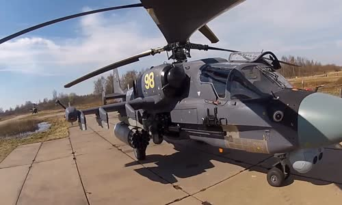 Russian Ka-52 Alligator Attack Helicopter