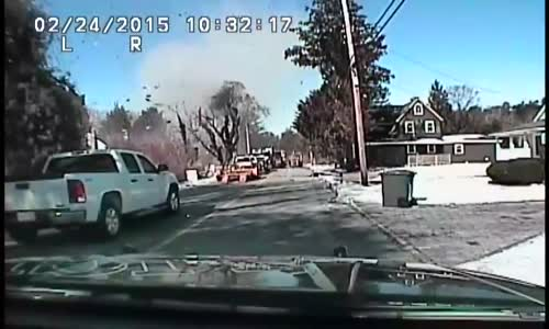 Police Dash Cam Captures New Jersey House Exploding