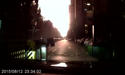 Tianjin Port Explosion Extremely Close Dashcam Video