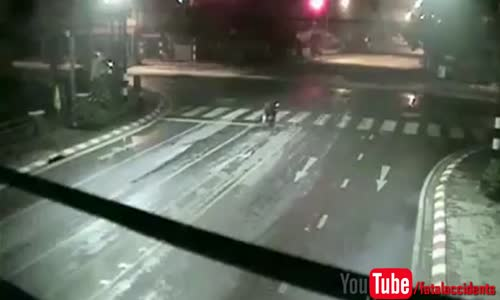 Biker escapes death within inches