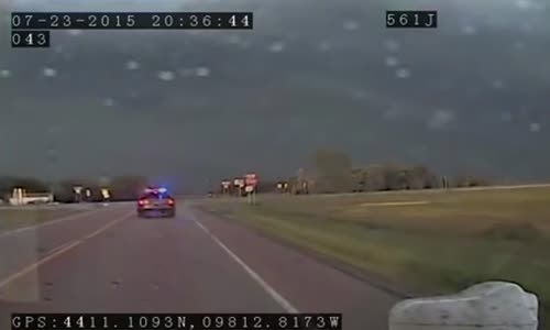 South Dakota Tornado Caught On Police Dashcam