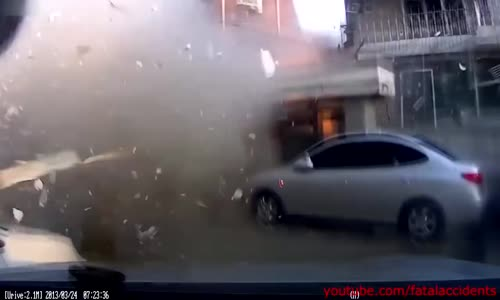 Intense Gas Explosion Caught on Camera in South Korea