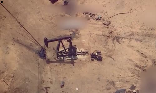 Coalition airstrike destroys Islamic state oil pump-jack