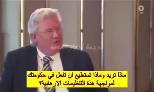 أوردغان يلقن مدير تحرير القناة الاولى الألمانية درسا في وصف الارهاب