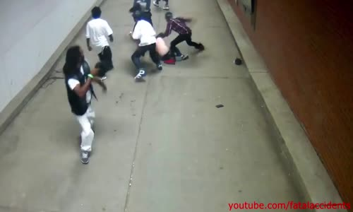 Unprovoked brutal bashing of couple by black gang members