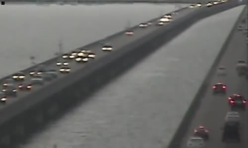 Pick up takes a plunge off the causeway