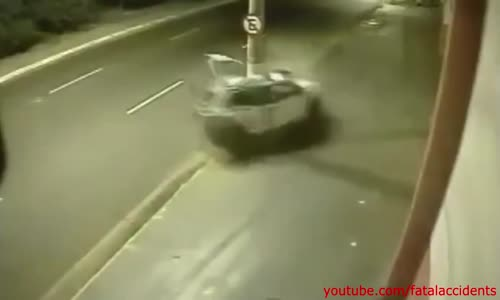 Lucky Driver Survives Violent Crash