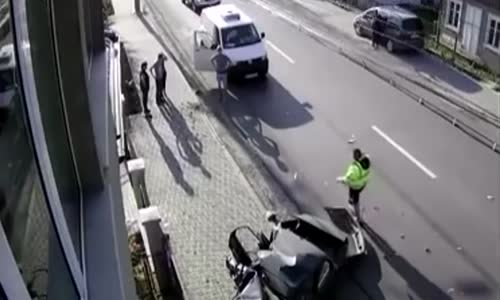 Car obliterated by truck