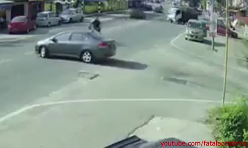 Biker Flips over Car Roof - Landing is a Casual 6_10