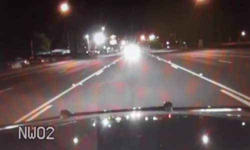 Drunk Driver Crashes Head On With Parked Patrol Car