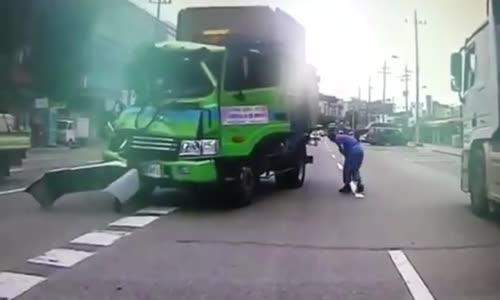 Violent Fatal Garbage Truck Crash