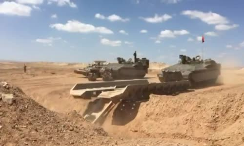 Namer Heavy Combat Engineering Vehicle Field Testing by Israeli Army