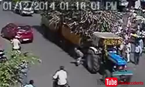 Man Survives After Being Run Over by Loaded Tractor