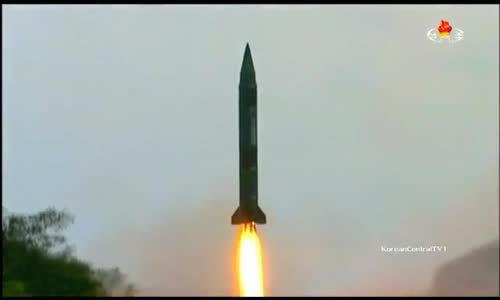North Korean Hwasong-7 (Scud-ER) Short-Range Ballistic Missiles Test Firing
