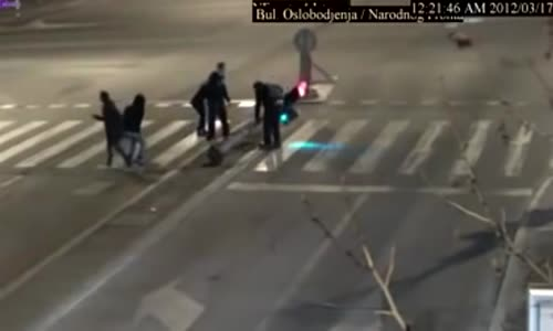 A very strong pedestrian in Serbia