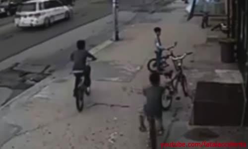 Young Boy Slammed by SUV Through Shop Window
