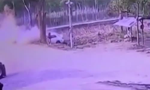 Opiate impaired speeding driver slams into tree