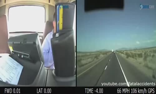 Dashcam Video of Trucker who Crashed into Police Cars