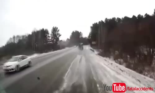 Wheel comes off truck & hits car head on