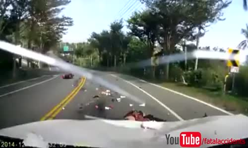 Brutal Scooter Head on Collision