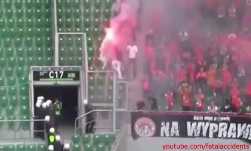 Polish Football Fan Set on Fire by Security