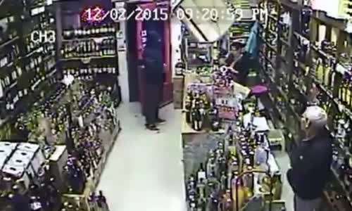 Store Owner Pulls Gun On Armed Robber