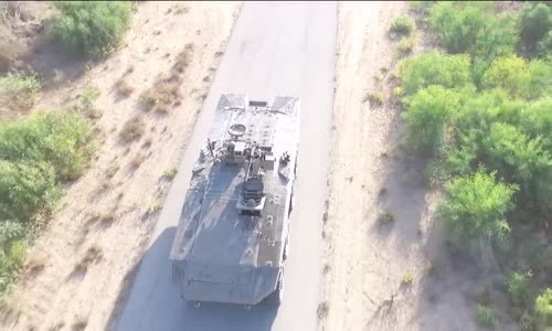 Israeli 'Eitan' Wheeled Armoured Vehicle with Trophy APS Testing