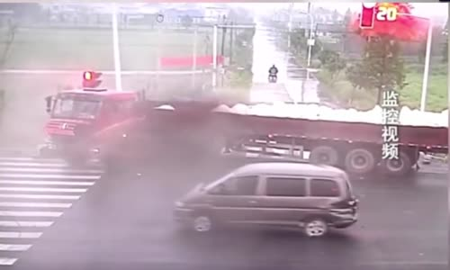 Cyclist narrowly escapes death
