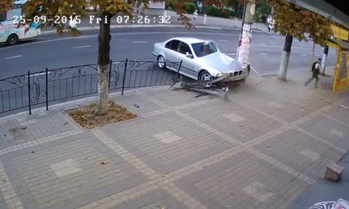 A very lucky student escapes death by seconds