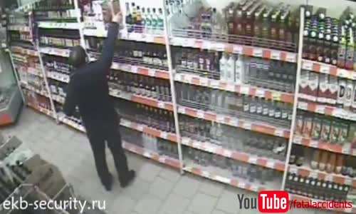 Worst liquor theft attempt ever