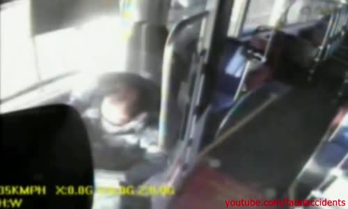 Bus driver high on drugs crashs bus after having a pipe while driving
