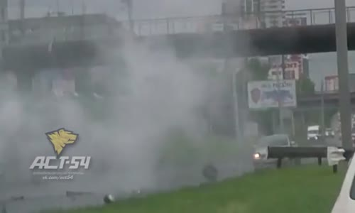 Porsche Goes Airborne In Crazy Highway Accident