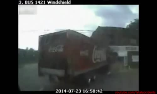 Coca-Cola Truck Sideswipes Bus & Crashes Into Store In Jacksonville