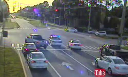 Smart car hits cop car