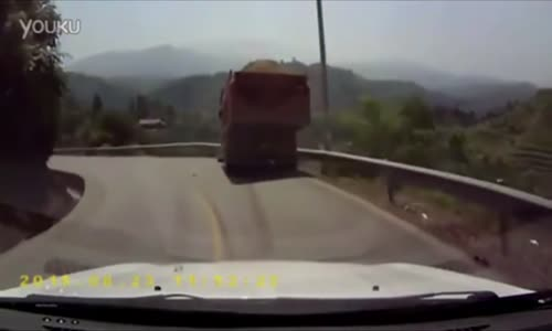 Truck Lost Control Fall off the Cliff